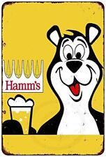 "Hamm's Beer Bear Vintage Retro Metal Sign 8"" x 12"""