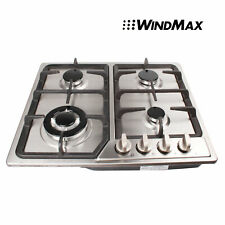 23.07in. 4 Burners Built-in Stove NG/LPG Gas Hob Cooktop Cooker Stainless Steel