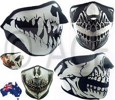 Neoprene HALF Face Reversible Biker Skateboard Motor Bike Scary Sports Mask