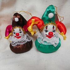 """New Pair of """"Bebop"""" Clown Head Doll Ornaments from Show-Stoppers"""