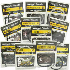 Airflo Bundle of 5 X Trout Fly Fishing 5ft Polyleaders Clear Floating