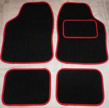 Black and Red trim Car Mats floor RENAULT CLIO LAGUNA MEGANE MODUS TWINGO
