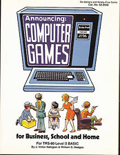 COMPUTER GAMES for BUSINESS, SCHOOL AND HOME:  TRS-80 LEVEL II BASIC