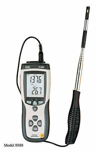 Hot Wire Thermo-Anemometer DT-8880 Air Flow Velocity Meter Temperature Tester !!