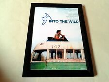 "INTO THE WILD SIGNED & FRAMED 12""X8"" POSTER EMILE HIRSCH"