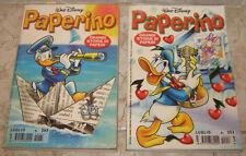 """Lotto/Stock/Giornalino/Fumetti """" PAPERINO """" Pz.2"""