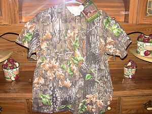 Camouflage Collared 3 Buttondown T Shirt Trebark Superflauge NEW- S M L XL XXL