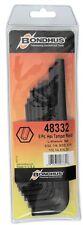 """3/32"""" - 3/8"""" Tamper Resistant Hex End L-Wrenches 8pc Set Bondhus USA Part #48332"""