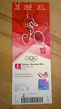 LONDON 2012 TICKET CYCLING MOUNTAIN BIKE 12 AUG 1330 X11 *MINT*