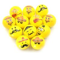 PU Balls Bulk Lot Hand Stress Relief Squeeze Foam Ball FunnyFace Toys wholesRCCA