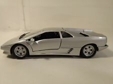 Lamborghini Diablo Sports Car In A Silver 1:24 Scale Diecast From Welly dc2507