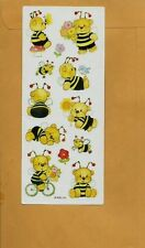 American Greetings Corp AGC Single Sheet Stickers TEDDYBEAR BEES!  Adorable