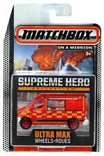 2015 Matchbox Supreme Hero Ultra Max Wheels Renault Master Ambulance
