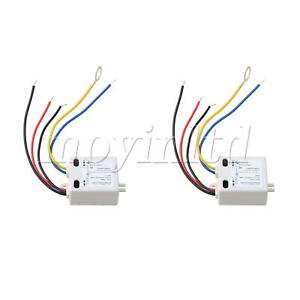 2pcs Square 120V ON-OFF Touch Switch XD-608 White for Switch Control Parts