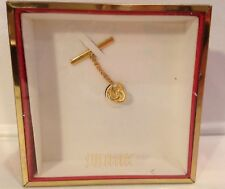 Pin With Chain~New With Box Gold Tone Tie Tack~ Swank~Tie
