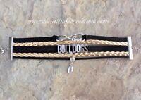 BULLDOGS Multi-strand Bracelet in Black & Gold - Football Infinity Love Charms