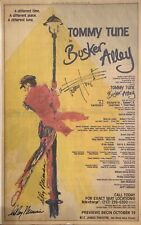 RARE! Tommy Tune Signed BUSKER ALLEY Broadway Newspaper Ad Poster
