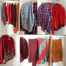 Vintage Western Women's Clothes Suede Skirt Bandana Skirt Lace Shirt