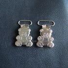 """Mitten Clip 19mm 25mm 3/4"""" 1"""" Bear Suspender Webbing Hook Paci Pacifier Holder"""