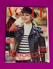 Vogue UK Magazine January 2016 Gigi Hadid