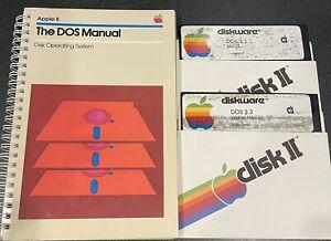 DOS 3.3 + Manual Apple II plus IIe 2 vintage computer software error free