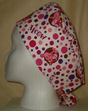 Surgical Scrub Hat Skull Cap with Pink Panther Cartoon Nurse Fabric Chemo ER