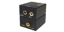 Digital Optical S/PDIF PCM Audio To Stereo L/R Audio Converter