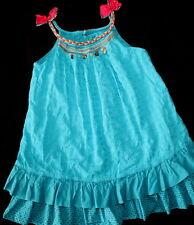 CATIMINI Ethnique Urban Turqouise Chams Girl Dress Size 3 Summer Gorgeous!