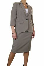 Business Jacket Patternless Skirt Suits for Women