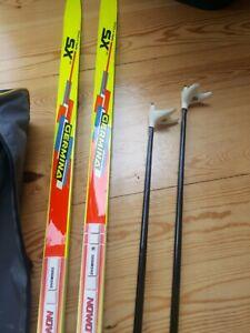 Langlauf Ski Germina 200 cm Salomon Schuh Bindung + Stöcke und Tasche