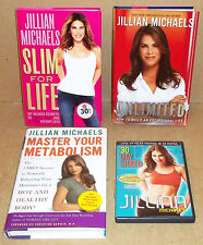 3 BOOKS AND A DVD BY JILLIAN MICHAELS SLIM FOR LIFE UNLIMITED 30 DAY SHRED