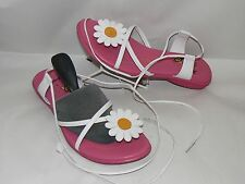 Leather Upper Shoes Sandals for Girls with Laces