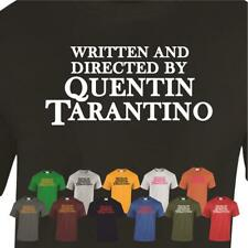 WRITTEN AND DIRECTED BY QUENTIN TARANTINO Mens Ladies Top Tee Funny t shirt