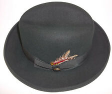 """NWT Classic Homburg """"Beaver Brand"""" US size Small-6 3/4 color Green Made In USA!"""