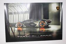Lamborghini Exclusive Poster Geneva 2018 terzo millennio 60 40 cm Press Kit