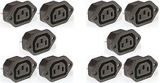 10 x IEC FEMALE Chassis Mains Kettle Socket mounting 240V PLUG 10A CABLE