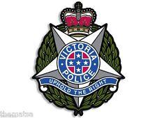"AUSTRALIA VICTORIA POLICE AUSSIE 4"" BUMPER CAR STICKER DECAL MADE IN USA"