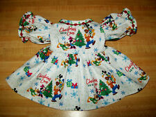 """DISNEY CHRISTMAS DRESS for 16"""" CPK Cabbage Patch kids MICKEY MINNIE DONALD PLUTO"""