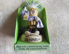 """Nuts About Work """"Sales Person"""" Peanut Bobble Head Figurine Collectable Character"""