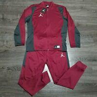 NIKE Air Jordan Flight Track suit Mens LARGE  Maroon Sweat pants Jacket Joggers