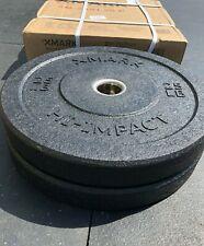 Olympic Weight Set -  Bumper Plates- 25lb PAIR - Hi-Impact Crumb Rubber - TOUGH!