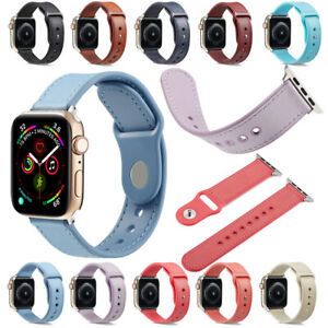 For Apple Watch Series 6/5/4/3/2/1 Genuine Leather +TPU Watch Band Strap Sports