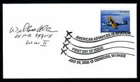 William Allen DEC. WWII Fighter Pilot Ace-5V Signed First Day Cover FDC E12937