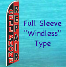 Cell Phone Repair Windless Feather Flag Tall Curved Top Advertising Sign Banner