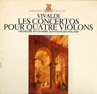 STU 70641 PAILLARD vivaldi the 4 concertos for violins french erato LP PS VG/EX