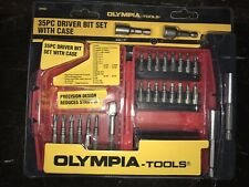 Olympia Tools 35 Piece Driver Bit Set With Case New And Sealed