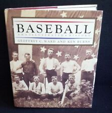 Baseball An Illustrated History Book Geoffrey C Ward And Ken Burns FIRST EDITION