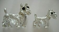 VINTAGE SCOTTIE DOG PINS/BROOCHES RHINESTONE COLLARS -DETAILED