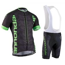 Cannondale Cycling Jersey Mens Bike Short Sleeve Jersey +Bib Shorts Set Clothing