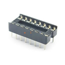 20PCS 16pin DIP IC Socket Adaptor Solder Type Socket Pitch Dual Wipe Contact